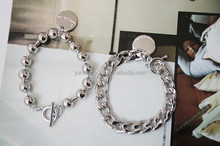 hot new products for 2015 punk style chain silver bracelet