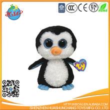Promotional cheap stuffed big eyes animal soft toy penguin plush toy