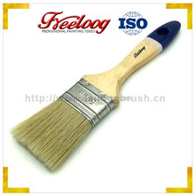 wooden handle white bristle paint brush
