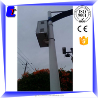 3.5M ISO9001-2008,CE hot dip galvanized garden light pole