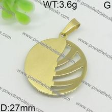 Musical note gold pet tag jewelry pendant