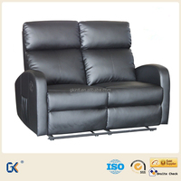 Recliner vibration massage leather chair sofa