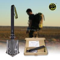 outdoor camping hiking digging gear durable shovel with aluminium alloy handle /snow shovel