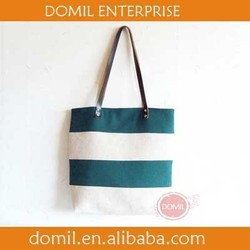 Personalize Summer tote bag, canvas tote bag, linen handbag with leather handles ALI-105002