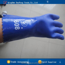 DANFENG RU608 PVC coated interlock lining cheap pvc gloves for cut and chemical resistant