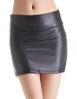 Latest fashion super mini skirt sexy leather tight mini skirt