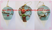 2014 best selling Christmas gifts/hand painted inside Christmas glass balls