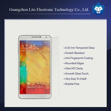 Latest popular 9h 0.33mm ultra clear tempered glass screen protector for samsung galaxy note 3