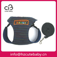 jean and mesh fabric dog clothes pet harness