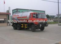 Hongyu tri-axle Dongfeng 15cbm vacuum sewage suction truck