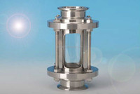 Stainless steel straight/union/flanged oil level sight glass