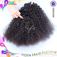 Cambodian virgin human hair afro kinky curly hair weave/soft human afro weave for south africa men