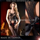 100% nylon preto halter neck senhoras transparentes bodystocking
