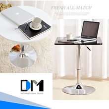 Wholesale 2015 new design MDF top stainless steel legs round dining table/FRP Tulip dining table