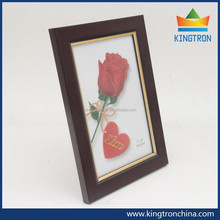 """4""""*6"""" inches dark red with golden edge picture frames high quality in cheap price"""