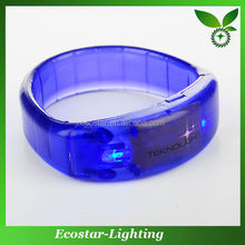 Popular Crazy Selling Decoration Gifts LED Flashing Sound Bracelet With Different Colors