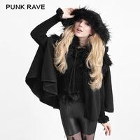 LY-050 PUNK RAVE new gothic fashion winter women lolita sweat cape coat