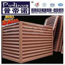 Hot printed Aluminum wood grain window