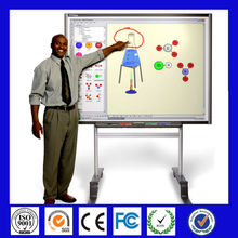 Multi users 85 inch with pentray smart for classroom Infrared technology finger touch double sided magnetic whiteboard
