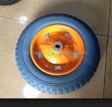 factory of Pu foam wheelbarrow wheels 3.00-8 13x3