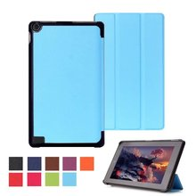 "CY Karst Pattern Slim 3- Folding Leather Case Cover Skin For Amazon Kindle Fire HD 7.0"" 2015"