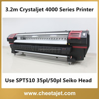3.2m Crystaljet 4000 SPT510 35pl Print head Series Solvent Printer