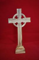 olive wood standing Celtic cross