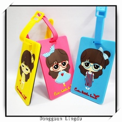 Silicone mateiral newest style airline luggage tag