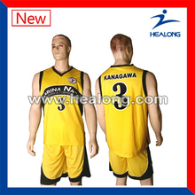 sublimated 100% polyester mesh dry fit team basketball uniform