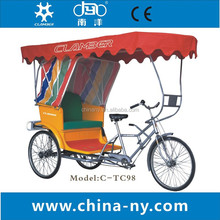 C-TC98 Rickshaw Three Wheeler Pedicab Passenger Tricycle