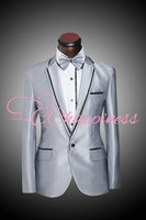 groom wedding suits silver grey men suits 2015 new patterned men suits