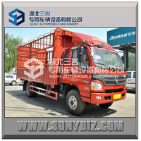 China Famous Top Product FOTON 4x2 Stake Body Truck diesel engine food truck