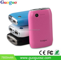 2016 New Super Fast Charging Ultra Slim Power Bank 7800mAh Portable Mobile Power bank for Blackberry