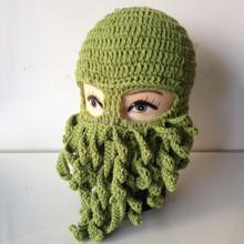 Crazy Knit Octopus Ski Mask Hat