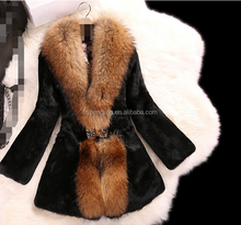 Rabbit Fur Coats Girls Pattern of Natural Fur Coats Made in Turkey
