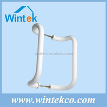 White powder coated double sided aluminum pull door handle