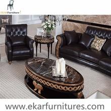Chesterfield estilo Dubai sofá de cuero muebles