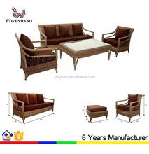 Handmade rattan sofa set wicker rattan furniture