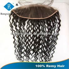 Cheap Factory Price 100% Curly Black human hair lace frontal piece