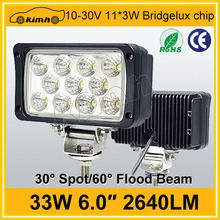 """IP67 waterproof 33w 6"""" led worklight for truck"""