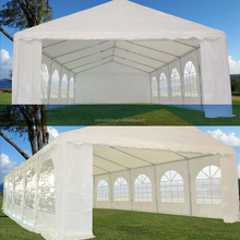New arrival heavy duty white 5x10m PVC wedding party tents with full set of sidewalls