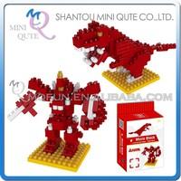 Mini Qute DIY change Robot Tyrannosaurus Dinosaur Diamond nano plastic building blocks bricks model educational toy NO.BY 8300A