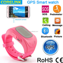 2015 Hot New Quick Dialing GPS Android/IOS Smart watch phone for KID