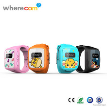 Wherecom water-resistant Kids GPS tracking watch featureing positioning, SOS with elegant design