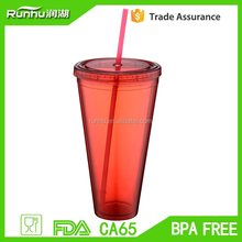 Housewares wholesale kids thermos tumbler plastic cup with screw on lid RH102-36