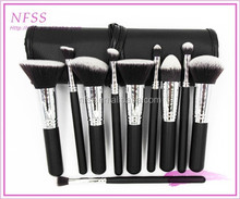 Fashion makeup brush 10pcs make up brush set cosmetic applicator