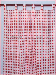 good quality wholesale big check design curtains