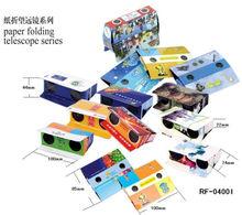 Regalos promocionales 2014 de la venta caliente de la alta calidad de los prismáticos plegables de cartón