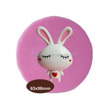 Rabbit cartoon silicone molds fondant, cake decorating tool silicone