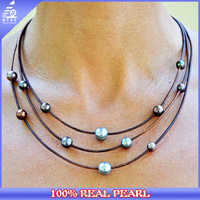 Pearls Cultured NK-00309 Round And Potato Wholesale Freshwater Real Pearl Necklace